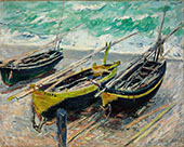 Three Fishing Boats 1885 By Claude Monet