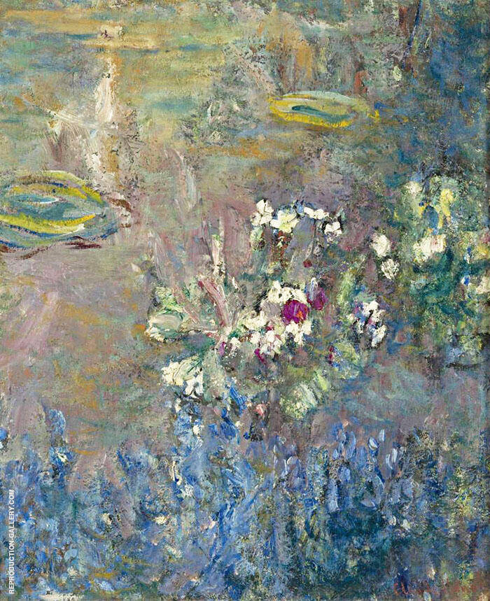 Waterlilies 1918  Detail 9 By Claude Monet