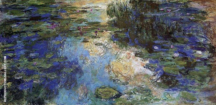 The Water Lily Pond 1917 Detail 6 By Claude Monet