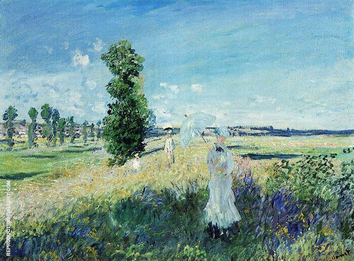 The Walk Argenteuil 1875 By Claude Monet