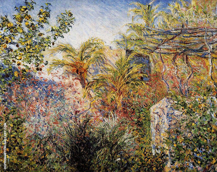The Valley of Sasso Bordighera By Claude Monet