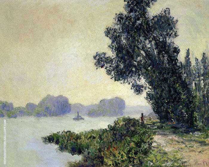 Towpath at Granval 1883 By Claude Monet