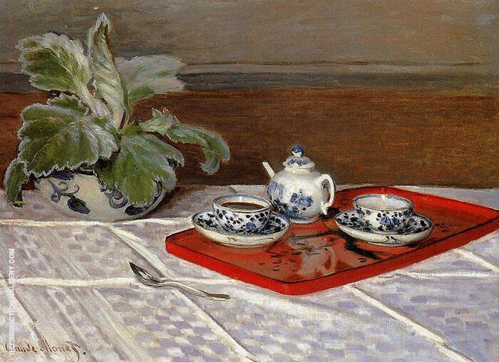 The Tea Set 1872 By Claude Monet