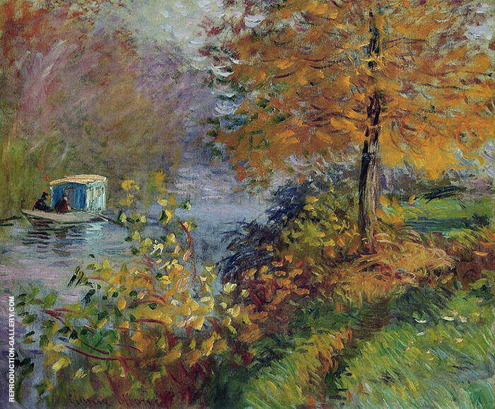 The Studio Boat 1875 Painting By Claude Monet - Reproduction Gallery