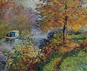 The Studio Boat 1875 By Claude Monet