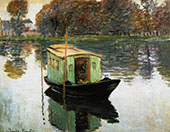 The Studio Boat 1875 2 By Claude Monet
