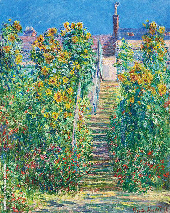 The Steps at Vetheuil 1881 Painting By Claude Monet - Reproduction Gallery