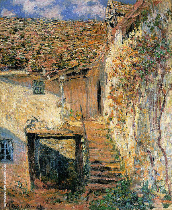 The Steps 1878 Painting By Claude Monet - Reproduction Gallery