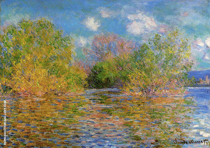 The Seine Near Giverny 1888 Painting By Claude Monet