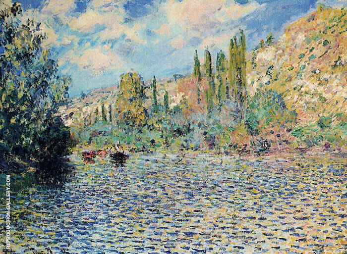 The Seine at Vetheuil 1879 Painting By Claude Monet - Reproduction Gallery