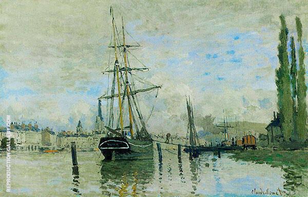 The Seine at Rouen 1872 By Claude Monet