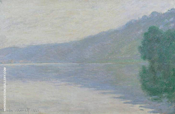 The Seine at Port Villez Harmony in Blue 1894 By Claude Monet