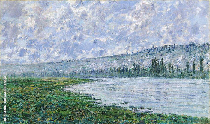 The Seine and the Chaantemesle Hills 1880 Painting By Claude Monet