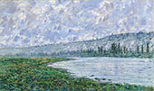 The Seine and the Chaantemesle Hills 1880 By Claude Monet