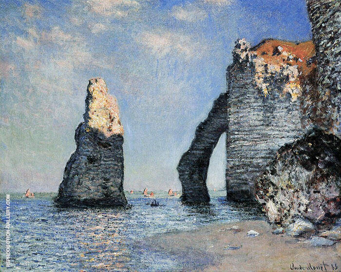 The Rock Needle and the Porte d'Aval 1885 Painting By Claude Monet
