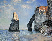 The Rock Needle and the Porte d'Aval 1885 By Claude Monet
