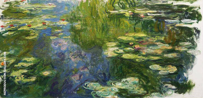 The Pool with Water Lilies 1917 Painting By Claude Monet
