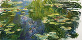 The Pool with Water Lilies 1917 By Claude Monet