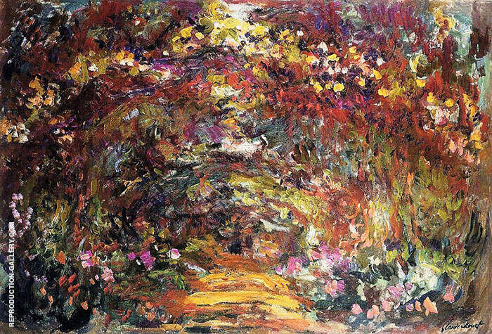 The Path under the Rose Trellises Giverny 1920 By Claude Monet