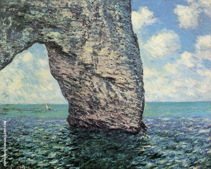 The Manneporte at High Tide 1885 By Claude Monet
