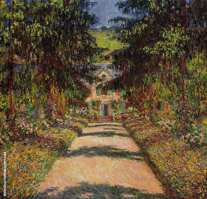 The Main Path Giverny 1900 Painting By Claude Monet - Reproduction Gallery