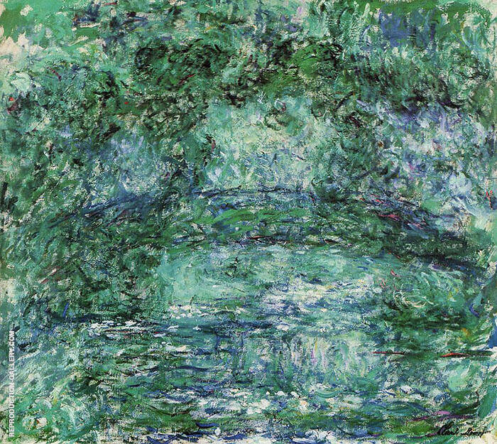 The Japanese Bridge 1918 Green Painting By Claude Monet