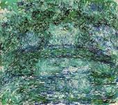 The Japanese Bridge 1918 Green By Claude Monet