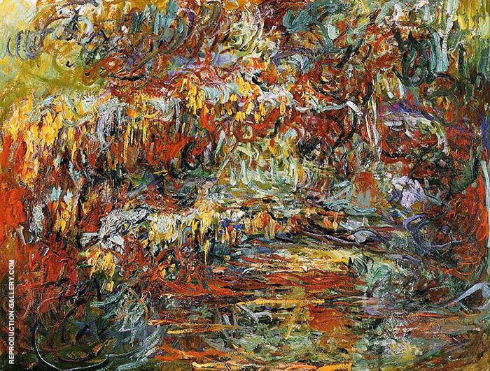 The Japanese Bridge 1918 4 By Claude Monet
