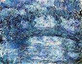 The Japanese Bridge 1918 Blue By Claude Monet