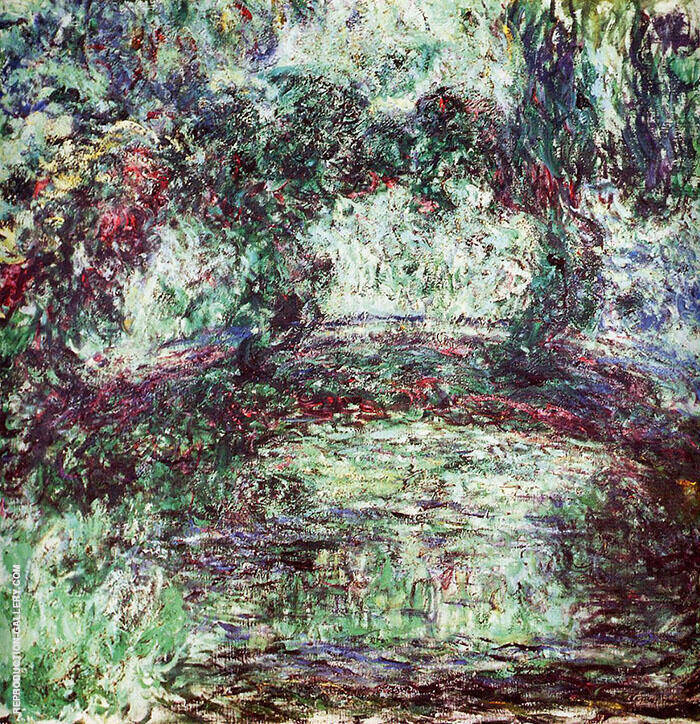 Claude Monet Japanese Bridge 1918 5 By Claude Monet