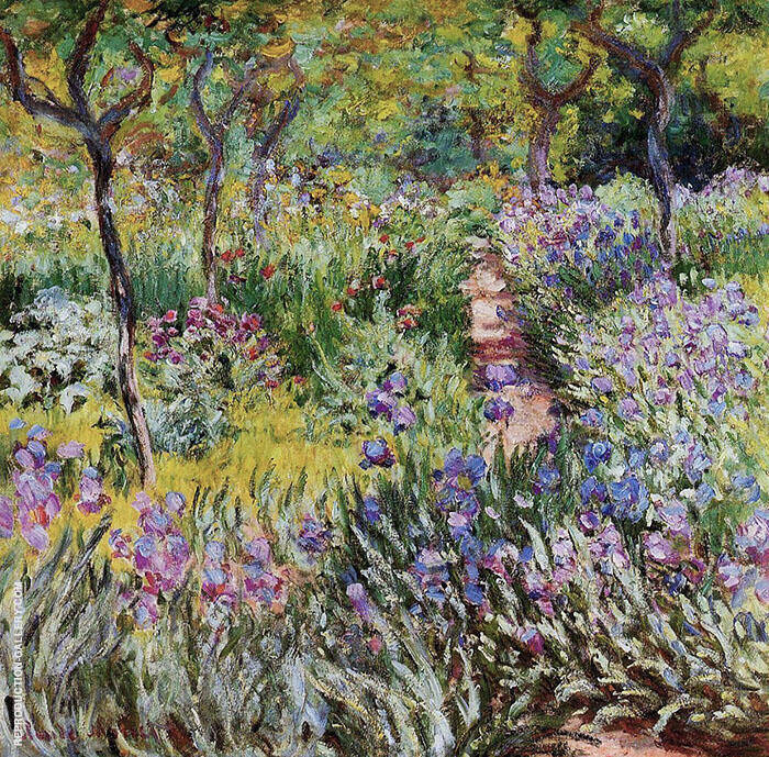 The Iris Garden at Giverny 1899 By Claude Monet