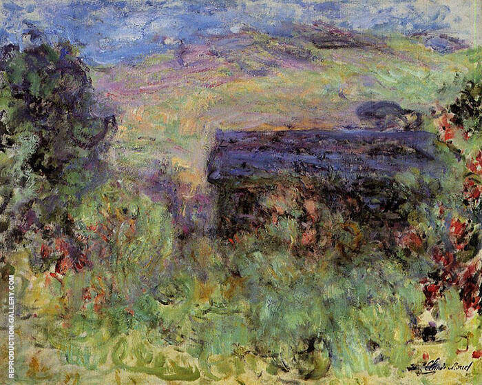 The House Seen Through the Roses c1925 By Claude Monet