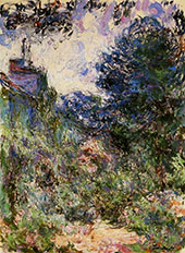 The House Seen Through the Roses c1922 By Claude Monet