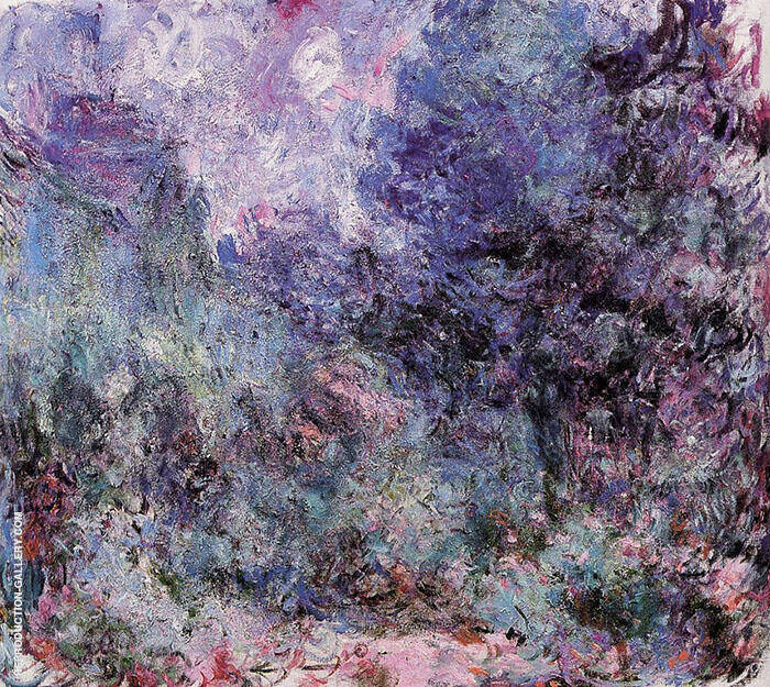 House Seen from the Rose Garden Lilacs 1922 By Claude Monet