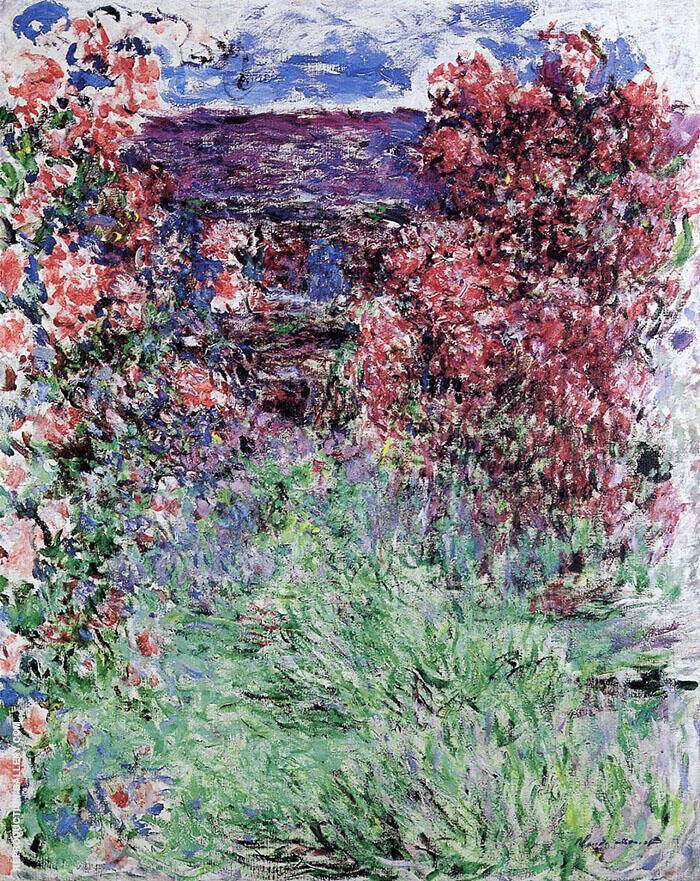 House Among the Roses 1925 By Claude Monet