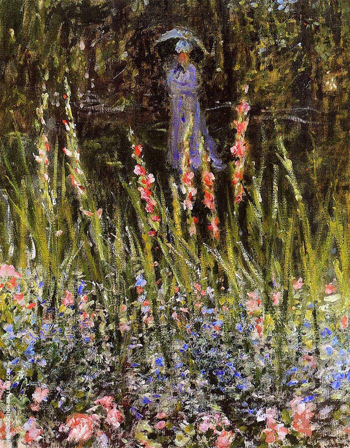 The Garden Gladioli 1876 By Claude Monet