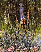 The Garden Gladioli 1876 By Claude Monet