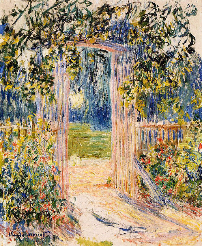The Garden Gate 1881 By Claude Monet