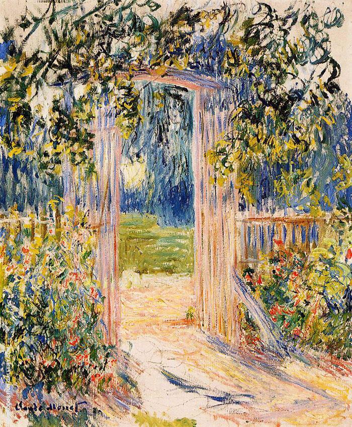The Garden Gate 1881 By Claude Monet