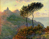 The Church at Varengeville against the Sunset 1882 By Claude Monet