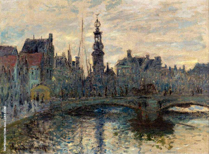 The Bridge in Amsterdam 1874 By Claude Monet