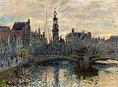 The Bridge in Amsterdam 1874 By Claude Monet