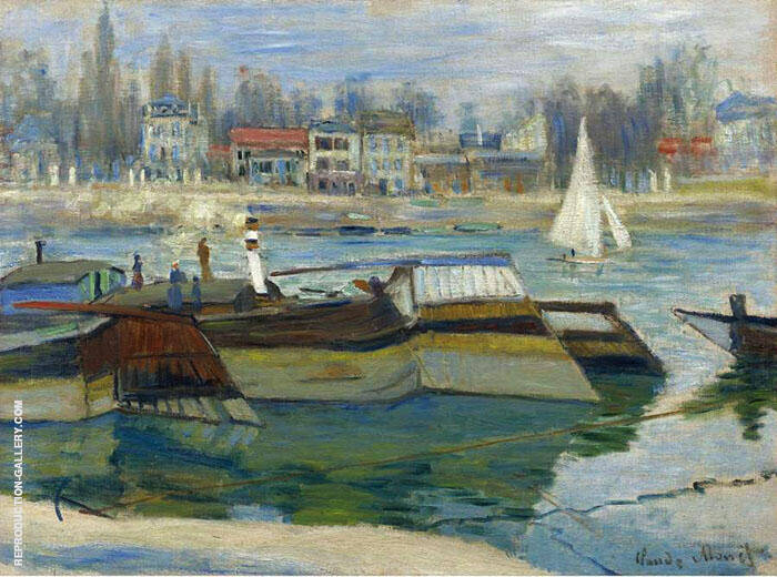 The Boats in Asnieres 1873 By Claude Monet