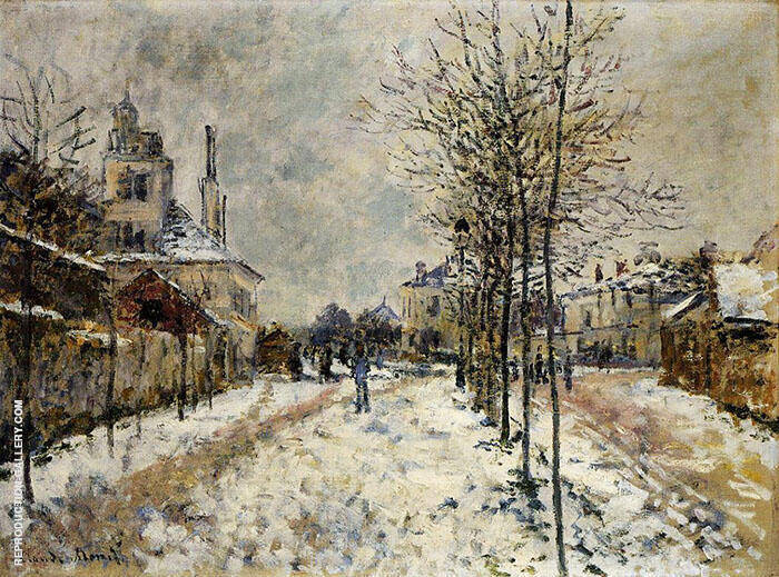 The Boulevard Pointoise at Argenteuil Snow Effect 1875 By Claude Monet