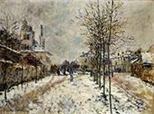 The Boulevard Pointoise at Argenteuil Snow Effect 1875 By Claude Monet