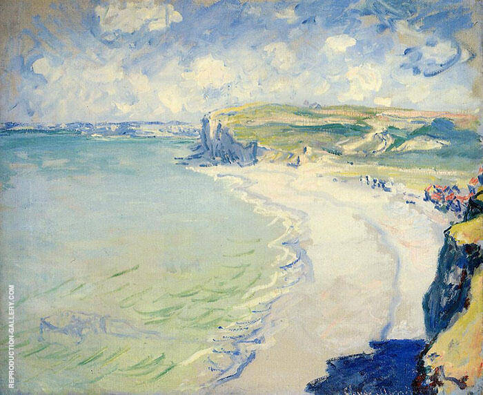 The Beach at Pourville 1882 By Claude Monet