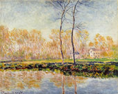 The Banks on the River Epte at Giverny 1887 By Claude Monet