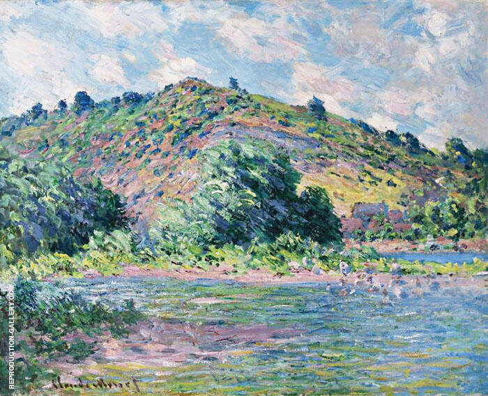 The Banks of the Seine at Port Villez 1885 By Claude Monet
