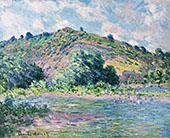 The Banks of the Seine at Port Villez 1885 By Claude Monet