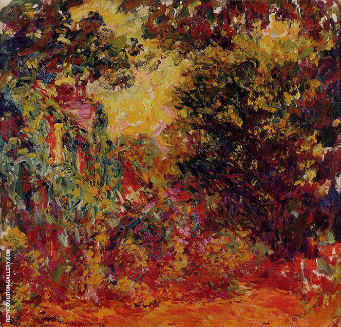 The Artists's House Seen from the Rose Garden c1922 By Claude Monet